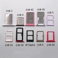 slot holder dual for xiaomi a1 5x a2 6x a2 lite a3 sim card tray sd reader socket