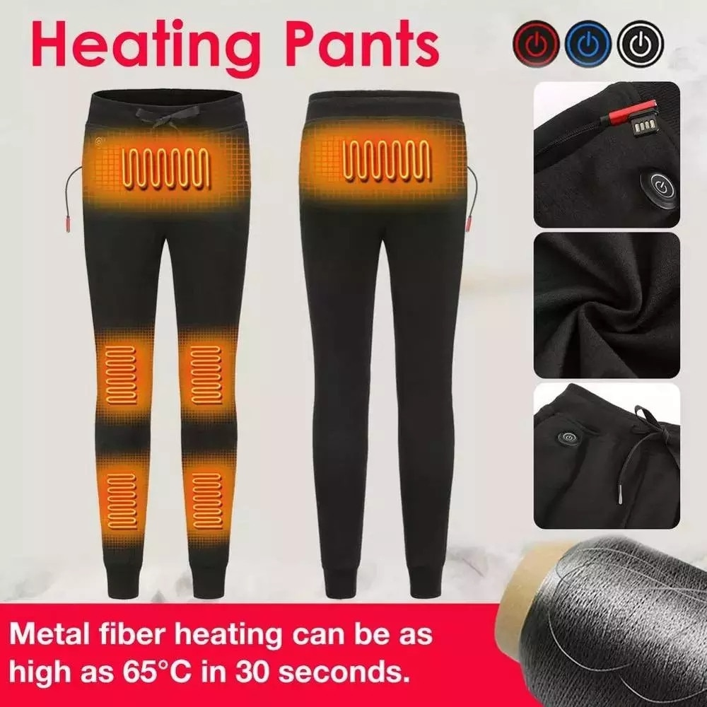 VIP Self Heating Trousers Women Men Winter Outdoor USB Charging Electric Warmed Pants High Quality Washable Comfortable Pants