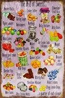 Enfance Bonbons A-Z Vintage Style Retro Metal Signe Plaque  Friandises bonbons Retro Mur Maison Bar Pub Cafe Vintage Decor  8x12 Po