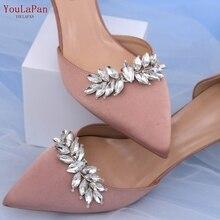 TOPQUEEN-accesorios para zapatos de novia, decoración de tacones altos, Clips para zapatos de novia, hebilla de diamantes de imitación, 2 unids/lote, X31