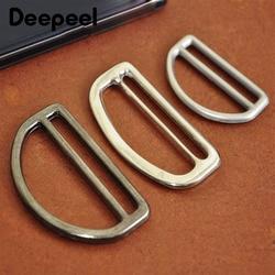 Deepeel 5/10 pces id25/38/50mm metal d anel tri-glide fivelas para correias ajustar gancho fecho sacos diy cinta clipe acessório de ferragem