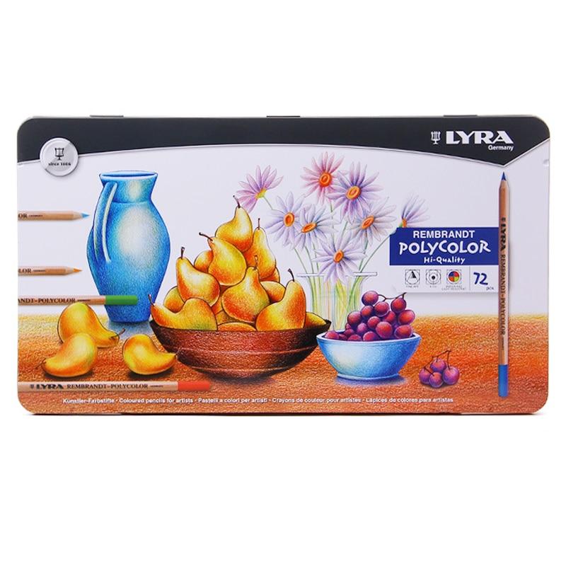 Lyra 72 cores rembrandt polycolor conjunto de lápis de cor lápis de desenho a óleo lápis lápis lápis lápis lápis de cor