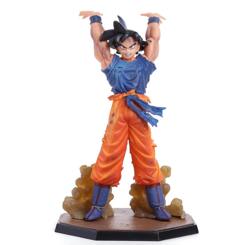 New Hot Japan Anime Akira Toriyama Dragon Ball Z Son Goku Spirit Bomb Ver. Battle 16CM PVC Action Figure Toys