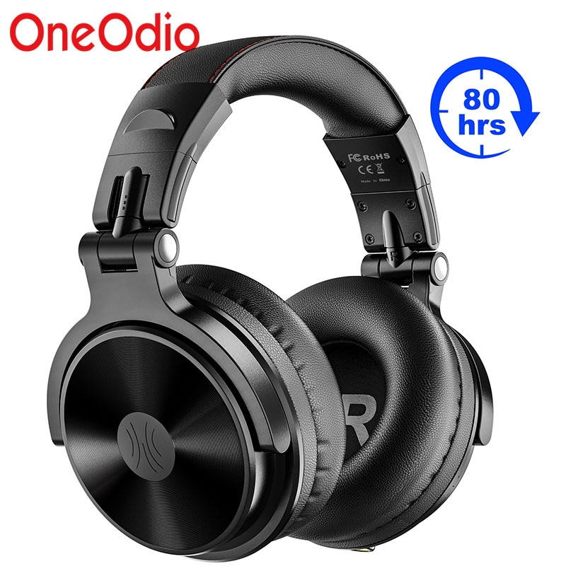 Fones de Ouvido sem Fio Fone de Ouvido Estéreo com Fio Fones de Ouvido para o Telefone do Computador Oneodio Pro-c Microfone Embutido Bluetooth 5.0 Dobrável Graves Profundos