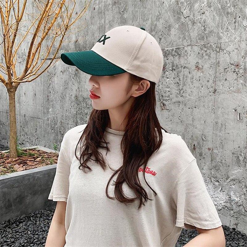 Yyun painel marca cap chapéu gorras boné de beisebol cabido 6 adolescente carta hip hop snapback chapéus cap bloco de cor para mulheres dos homens unisex