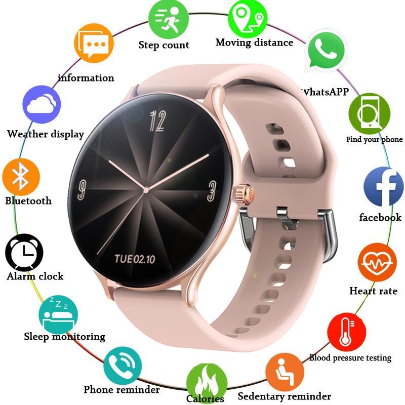 2020 New Full screen touch Ladies Smart watch Waterproof bracelet Heart rate Monitoring sleep monitoring smart watch For Xiaomi