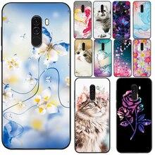 For Xiaomi Pocophone F1 Case 6.18 inch Soft TPU Protective Cover For Xiaomi Pocophone F1 Flower Phon