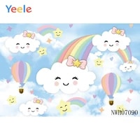 background photography photo studio cute cloud baby rainbow hat for birthday party newborn baby shower photography background
