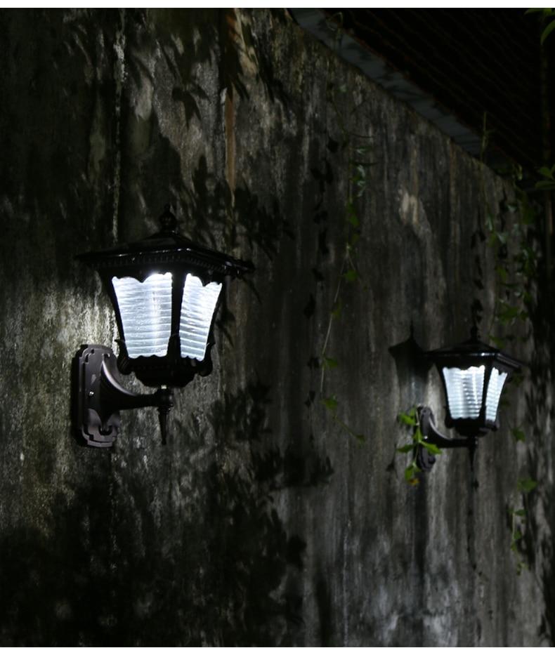 American Solar Outdoor Wall Lamp Industrial Lantern Waterproof Sensor Light Outdoor Terrace Garden Arandela Porch Lights Ed50dj enlarge