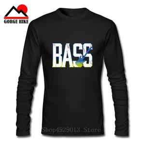 Vintage Bass Guitar Guitarist T-Shirt for Men Long Sleeves 2019 Fashion Tees O Neck Cotton Music Clothes Birthday Gift T Shirt