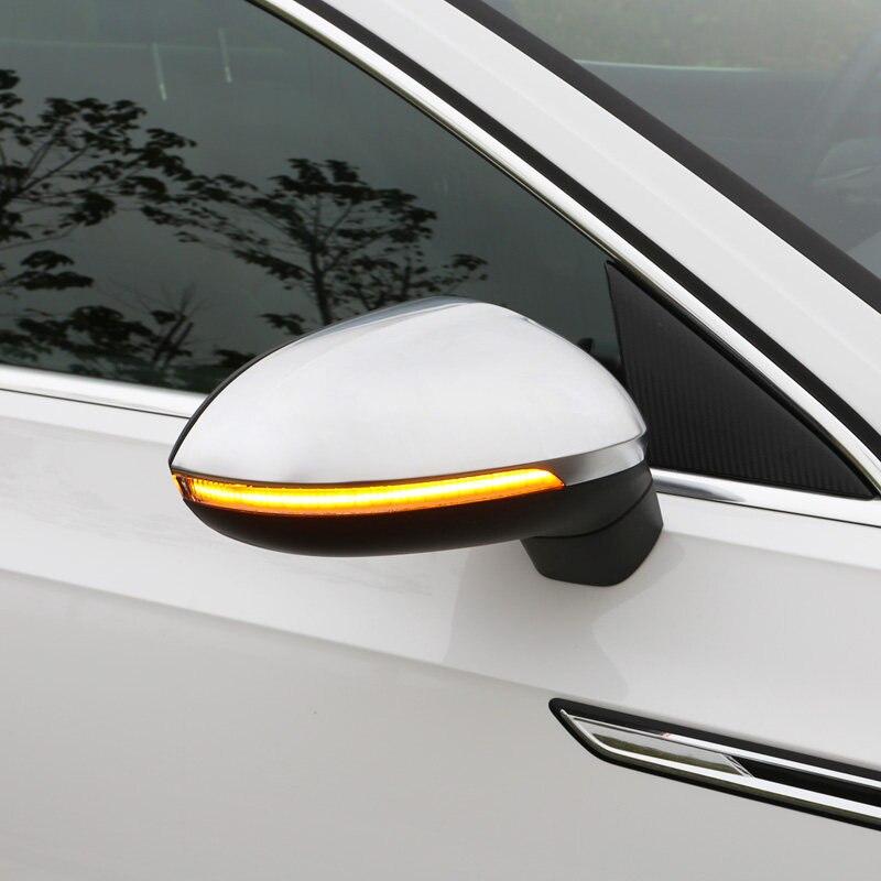 Para VW Volkswagen Passat B8... artefacto 2017-2019 señal de giro dinámica LED lateral espejo retrovisor indicador parpadeante luz repetidora