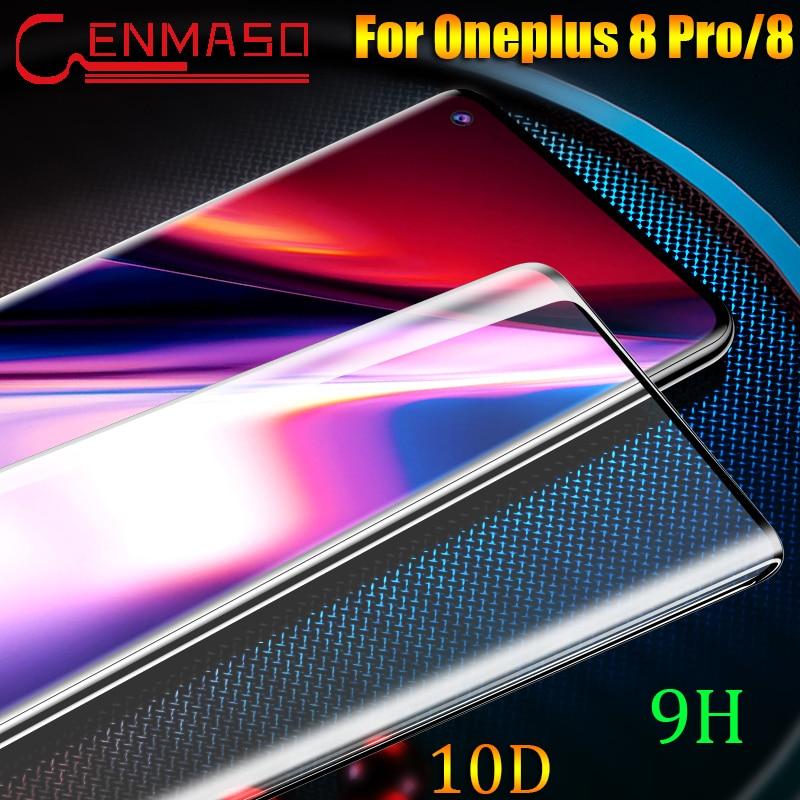 Para Oneplus 8 Pro vidrio templado flim 10D Protector completo para Oneplus 8 7 7T Pro 6 6t 5t 9H Protector de pantalla película frontal de vidrio