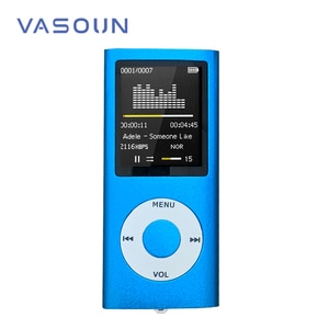 VASOUN 1.8 inch Mp4 Player 8GB Music Playing FM Radio Video Player E-book Player MP4 Built-in Memory Multi-language Supported