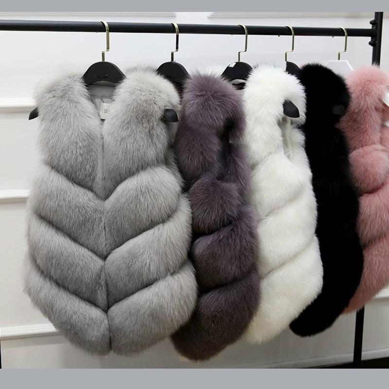 Furry Fur Women Coat 2020 New Fashion Faux Fur Coat Winter Coat Women Waist Coat Fur Gilet Women Fur Jacket Fur Vest for Ladies фото