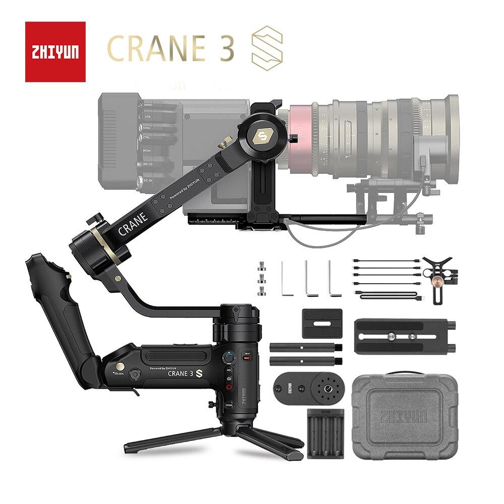 Câmeras de Vídeo para Nikon Zhiyun Crane Oficial Guindaste – se 3-axis Cardan Handheld Estabilizador Suporte 6.5kg Dslr Câmera Canon 3s