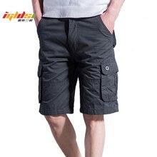 Mannen Baggy Joggers Multi Pocket Militaire Cargo Shorts Mannelijke Katoen Joggingbroek Tactische Shorts Korte Broek Plus Size 46