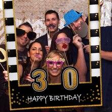 Ślub fotografia dekoracyjna stoisko rama dla dorosłych 30th 40th 50th 60th wszystkiego najlepszego z okazji urodzin rekwizyty do budki fotograficznej dla dzieci 1st dekoracje na przyjęcie urodzinowe dostaw