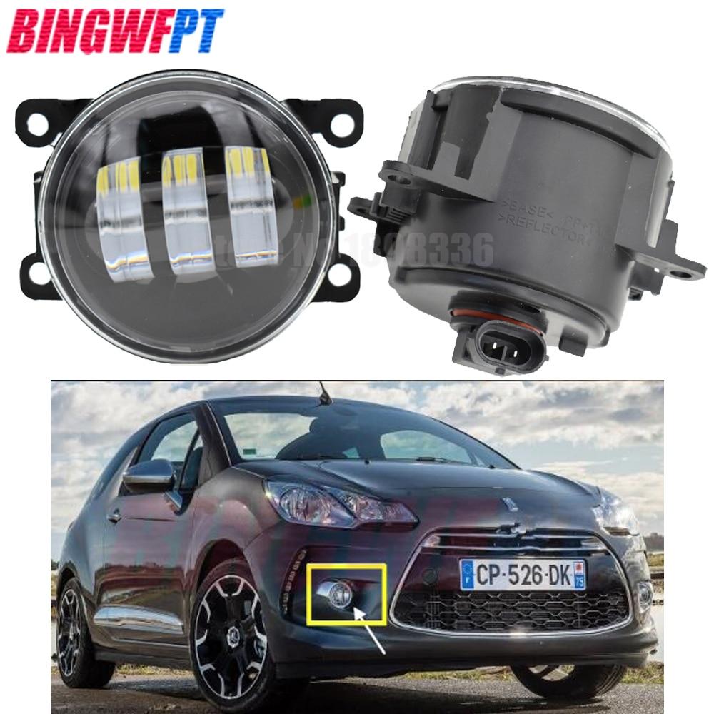 2 unids/par lámpara de niebla Asamblea Super brillante LED luces antiniebla para Citroen DS3 2011-2015 para Peugeot 307 Hatchback 3A 3C 2000-2008