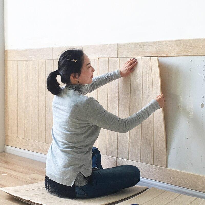 3D decoración del hogar pegatina de pared PE espuma impermeable 70x70 Cm papel tapiz para niños habitación TV fondo