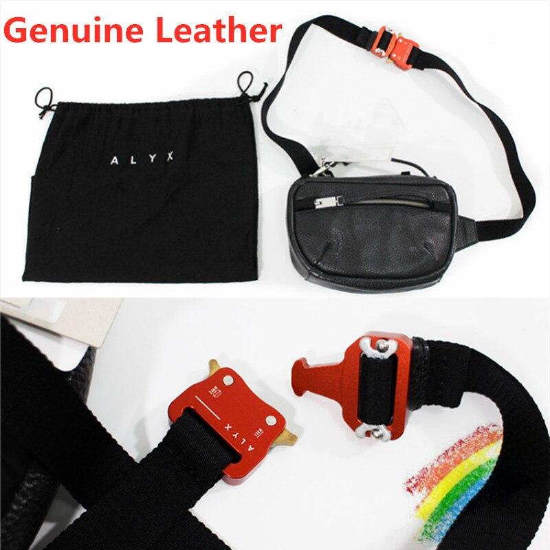 Bolsos de cuero genuino para hombres y mujeres 11 bolsa de pecho rojo de alta calidad