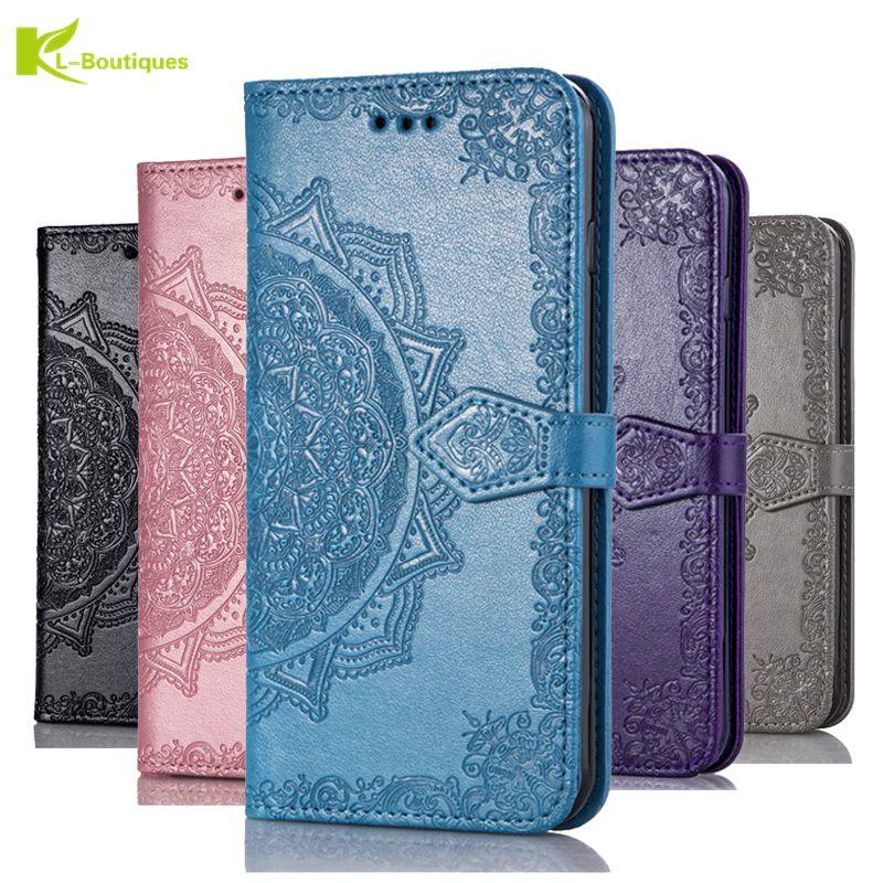 Funda para LG K40 K50 Q60 Q90 K12 Plus funda abatible de cuero 3D Mandala flor funda de teléfono para LG W10 W30 V3 V5 LV3 2018
