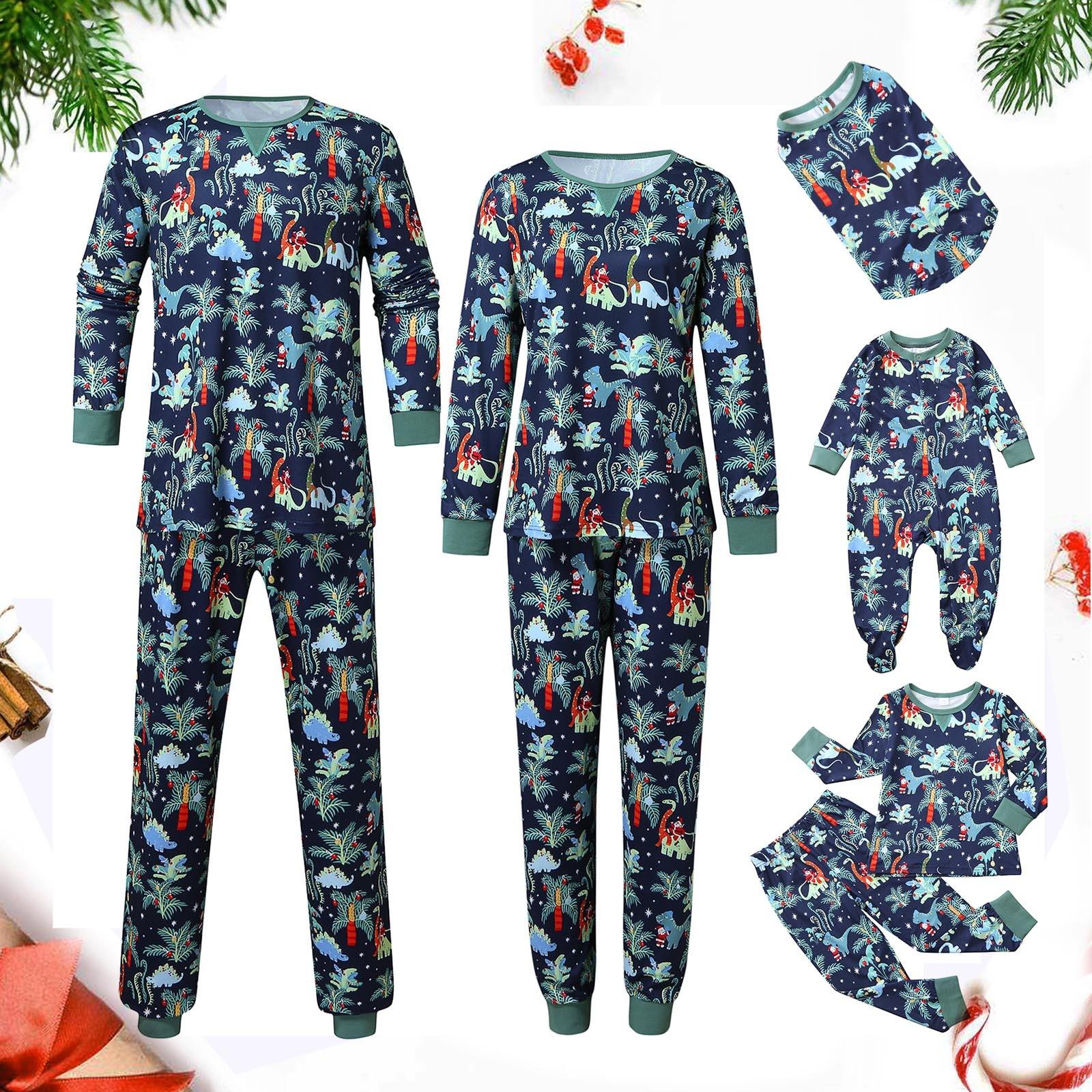 Pijamas de navidad para hombre, ropa con estampado de dinosaurio de navidad,...