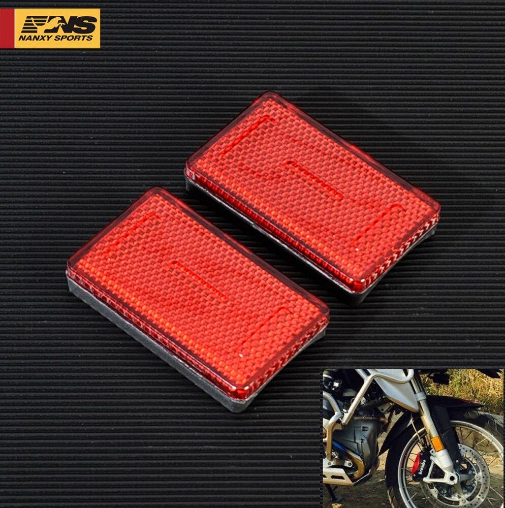 1 пара мотоцикла ABS пластик передняя вилка ноги светоотражающий отражатель для BMW K1200RS K1200GT Модель двигателя красный желтый янтарь 3 цвета