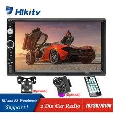"Hikity 자동차 라디오 플레이어 미러 링크 autoradio 2 din 7 ""LCD 터치 스크린 자동차 스테레오 MP5 블루투스 자동 스테레오 후면보기 카메라"