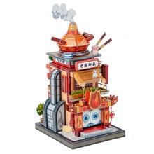 Art modèle 3D métal Puzzle Art Tour chine pot chaud boutique construction modèle kits bricolage Laser coupé assembler Puzzle jouet pour les enfants
