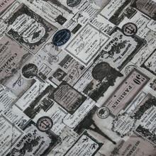 Pół metra retro gazeta drukuj bawełniany materiał na handmade DIY materiał patchworkowy 100% bawełna T1025
