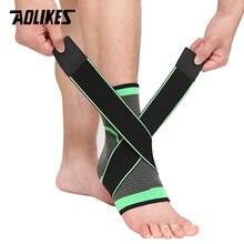 AOLIKES 1 PC Sports Ankle Brace Compression Strap Sleeves Support 3D Weave Elastic Bandage Foot Prot