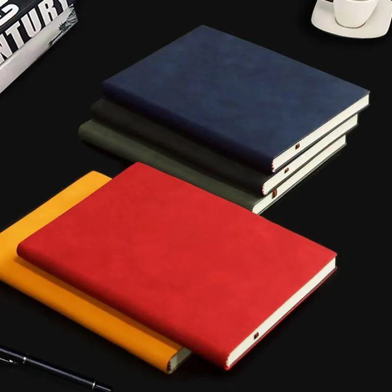 Portable Notebooks A6 Travelers Journals School Office Meeting Record Notepad,Soft Leather Diarys,160pages,80gsm, Agenda 2021