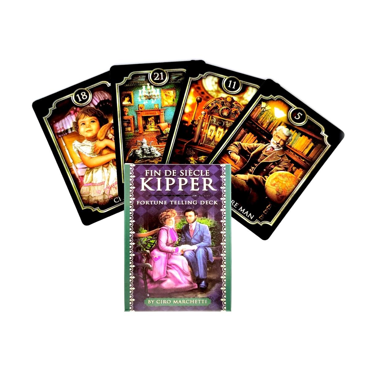Fin De Siecle Kipper Fortune Telling Deck Tarot Cards Mystical Guidance Deck Divination Entertainment Partys Board Game 39PCS kipper fortune telling deck altar divination tarot oracle cards for card board game accessories