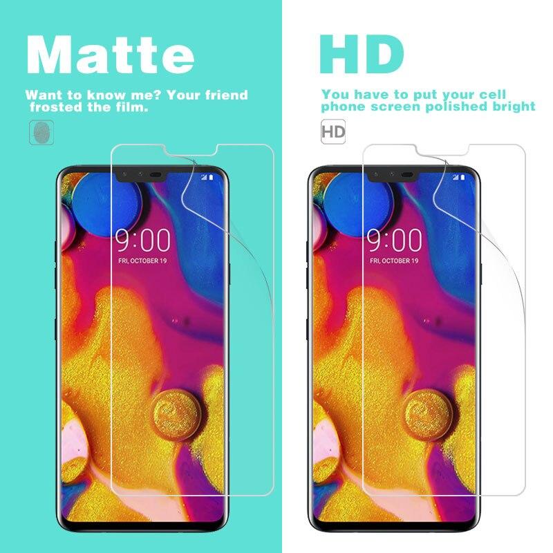 HD واضح لامع غطاء حماية الفيلم ل LG V10 V20 V30 V32 V34 V35 V40 زائد ThniQ Vlot ماتي حامي الشاشة مكافحة بصمة