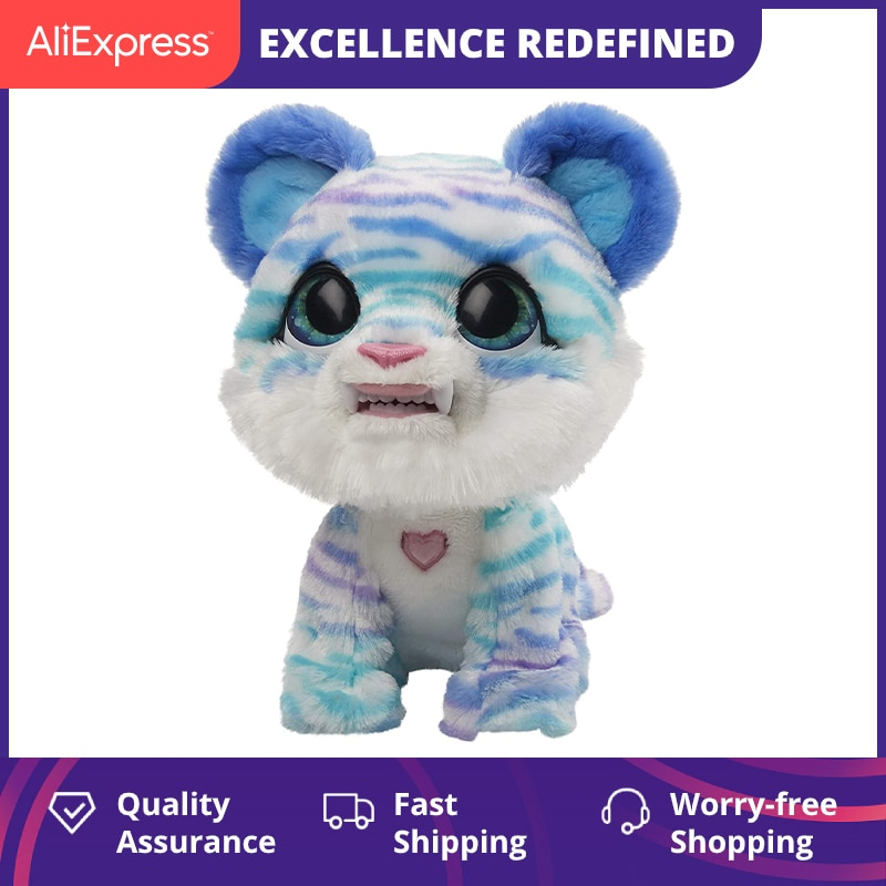 FurReal Friends North The Sabretooth Kitty Interactive Pet Toy For kids Blue Animals Cat Toys For Girl Cute Stuff Doll Plushy