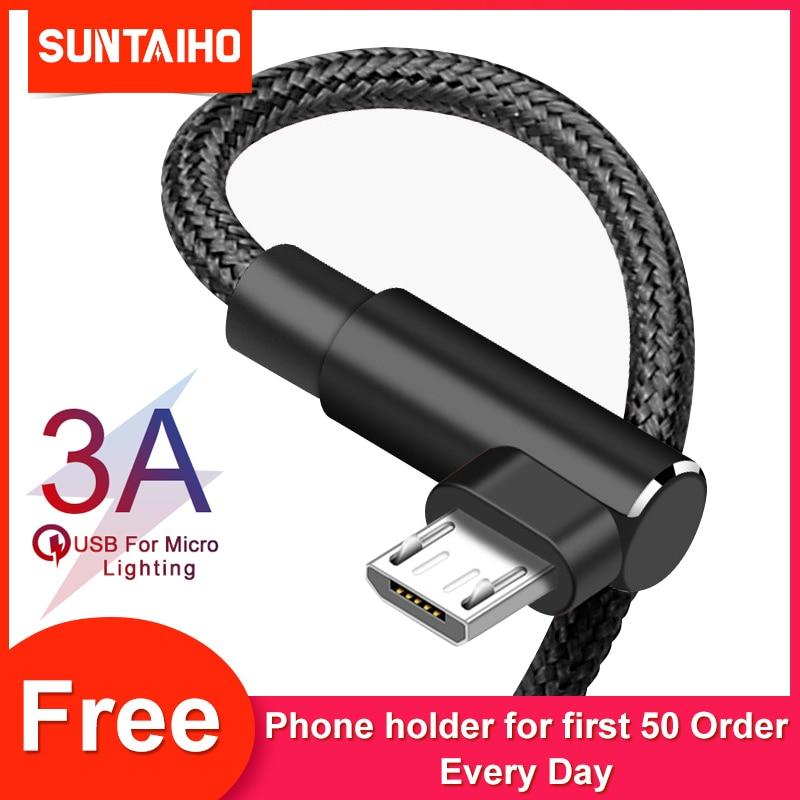 Suntaiho-Cable de carga Micro para Xiaomi Redmi 7, 4X, Samsung S7, LG,...