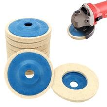 LEEPEE 10 шт./компл. полировальный угловой шлифовальный круг, фетровое шерстяное колесо, набор полировальных дисков, 9,5 см шерстяные полировальные колодки