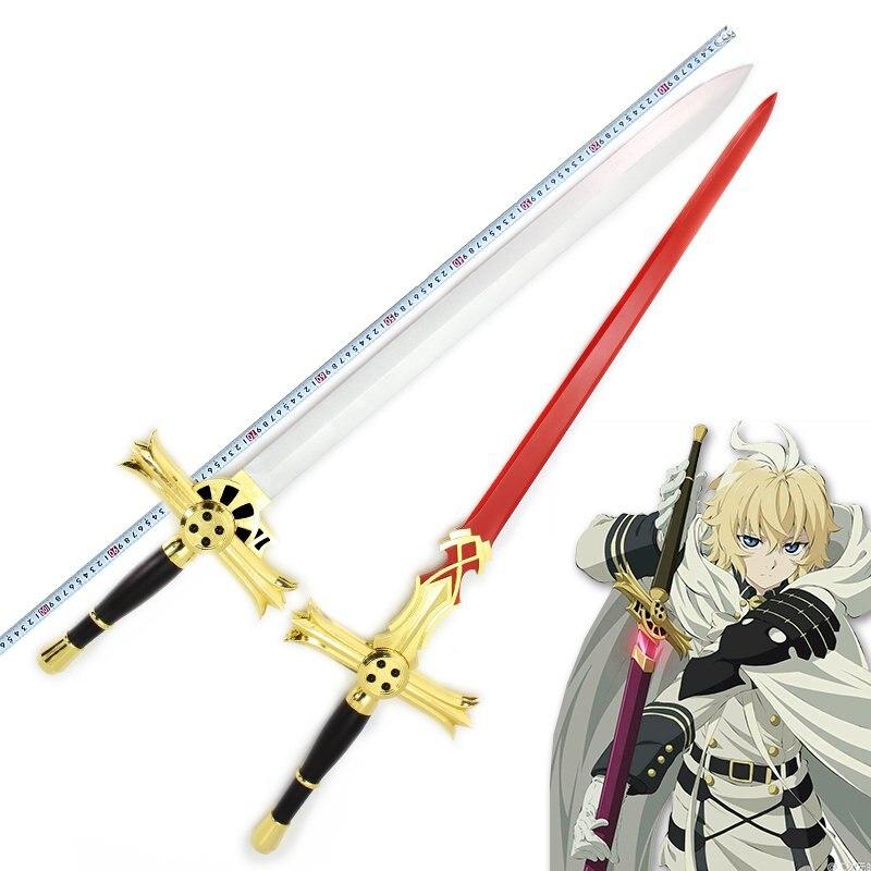 Серафим конца Mikaela Hyakuya деревянный меч Аниме Косплей оружие 5 вариантов Рождественский реквизит