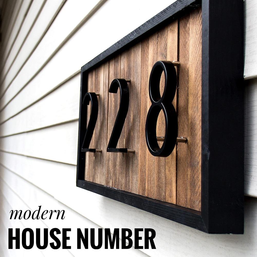 aliexpress - 125mm Floating House Number Letters Big Modern Door Alphabet Home Outdoor 5 in.Black Numbers Address Plaque Dash Slash Sign #0-9
