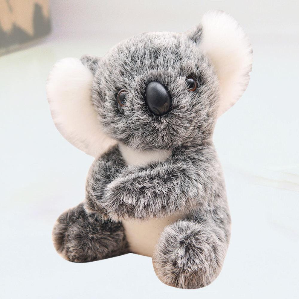 Восхитительная имитация куклы коала, забавные мультяшные детские украшения для дома и офиса, подарок на день рождения (серый, 13 см)