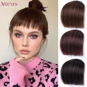 HOUYAN 6 дюймов зажим для волос парик аксессуары синтетический-Термостойкое волокно имитация челок зажим