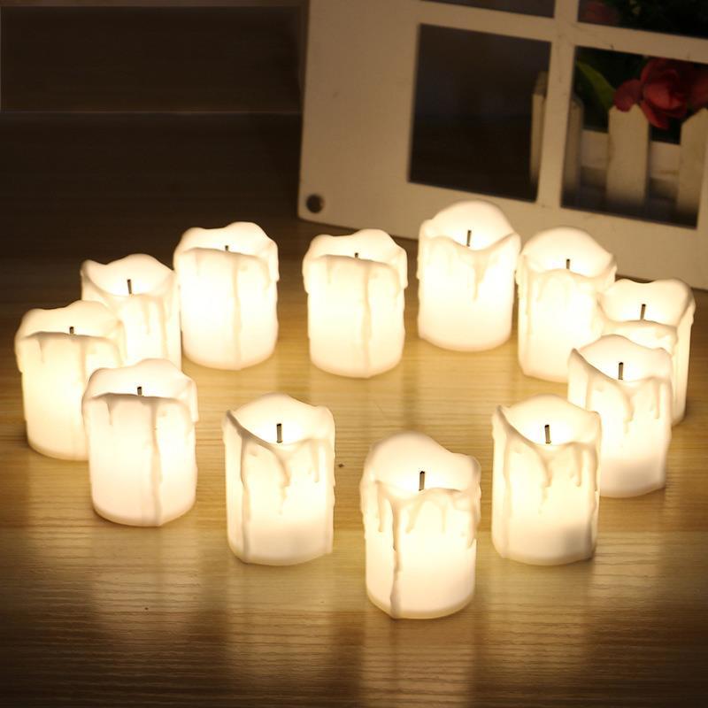 Led natal decoração cintilação velas luz led tealight romântico votive velas lâmpada criativo melhor presente