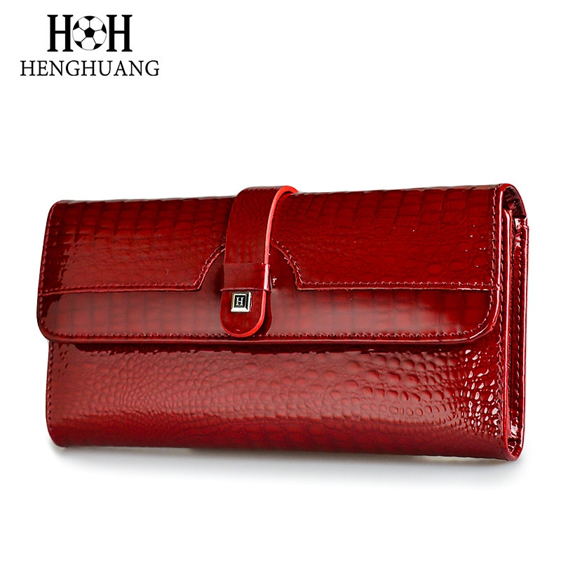 dudini fashion korean style wallet pu leather long section wallet women printing geometric pattern zipper 1 fold women wallets HH Women Long Wallet Genuine Leather Wallets Red Aligator Pattern Cowhide Purse Three Fold Large Capacity Clutch Wallet Luxury