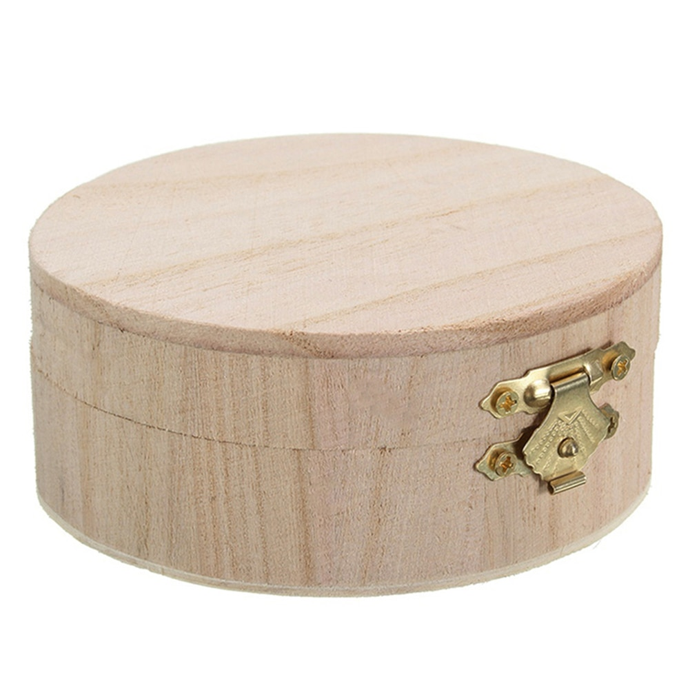 Organizer ochrona drewniane pyłoszczelne szminki kolczyki stół opakowanie pudełko upominkowe biżuteria okrągły butik dekoracyjny