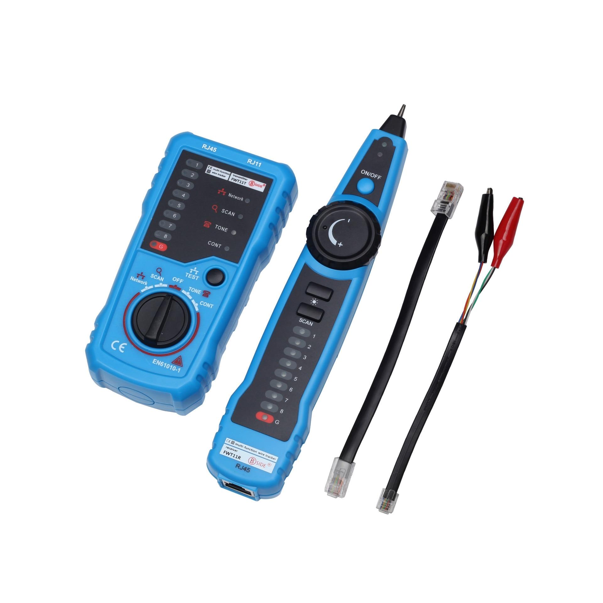 Cabo de rede lan tester cabo cat5 cat6 rj11 rj45 detector fio telefone tracer cabo rastreador toner ethernet linha finder