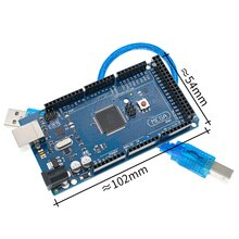 10 pièces Méga 2560 R3 Mega2560 REV3 ATmega2560-16AU, ATMEGA16U2-MU + Câble USB compatible 10set