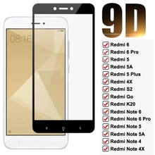 9D Full Protective Glass For Xiaomi Redmi Note 4 4X 5 5A 6 Pro Screen Protector Redmi 4X 5 5A 6 6A S2 GO K20 Tempered Glass Film