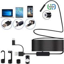 USB-эндоскоп с камерой 3 в 1, 1080P, USB/Micro USB/Type-C