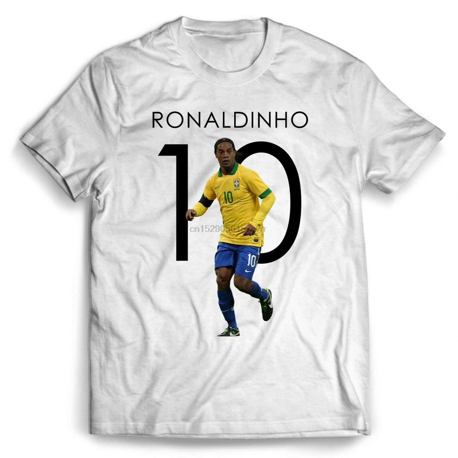 Ronaldinho 10 Brasil hombres mujeres camiseta