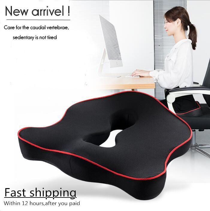 Premium Memory Foam Seat Cushion Coccyx Orthopedic Car Office Chair Cushion Pad for Tailbone Sciatica Lower Back Pain Relief